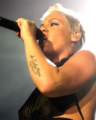 Pink's Arm & Hand Tattoos