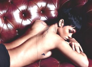Rihanna Back Stars Tattoo