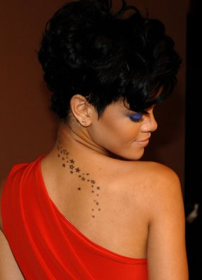 Rihanna String of Stars Tattoo