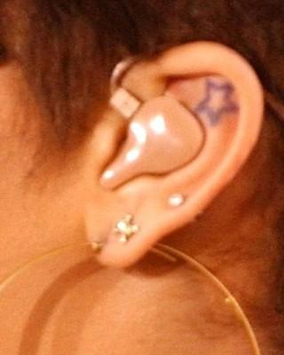 Rihanna's Star Tattoo Inside Her Ear