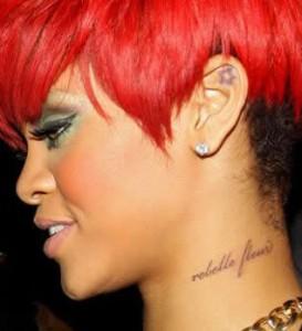 Rihanna Rebele Fleur Tattoo