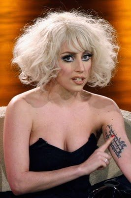 Lady Gaga Rilke Arm Tattoo in German