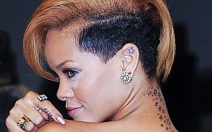 Rihanna's Ear Star Tattoo