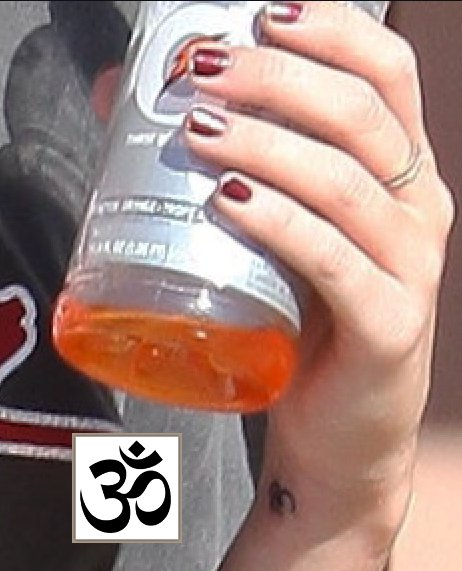 Miley Cyrus' Om Tattoo
