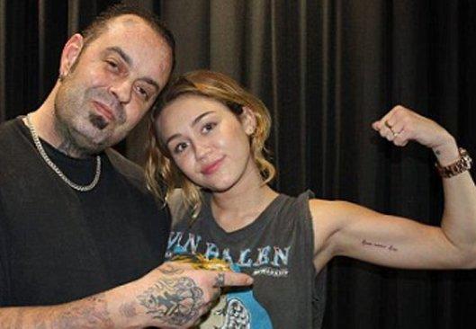miley cyrus love never dies tattoo