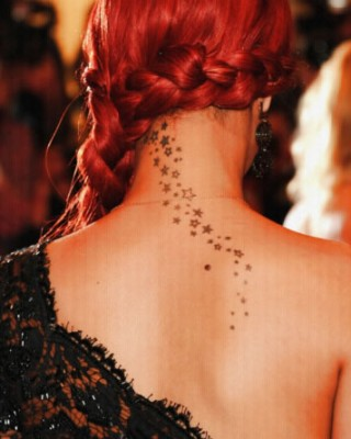 The Story Behind Rihanna's String of Stars Tattoo on the Back of Her Neck