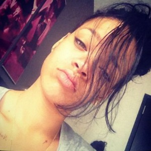 Rihanna's Cross Chest Tattoo