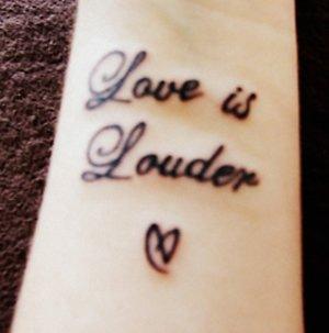 Demi Lovato Fan Love is Louder Tattoo