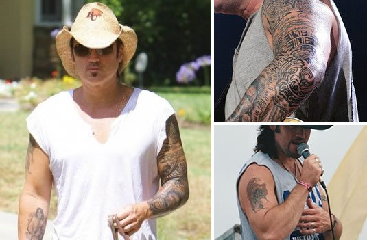 the cyrus family tattoos miley trace and billy ray