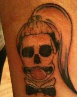 """5 Super Cute """"Born This Way"""" Skull Tattoos on Lady Gaga Fans"""