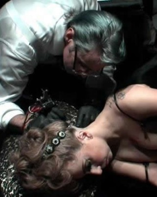 Lady Gaga Gets Tattooed Live at Perfume Launch in NYC