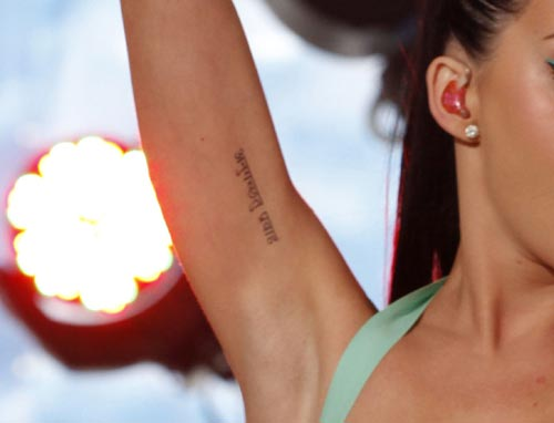 Katy Perry Sanskrit Arm Tattoo