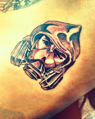 """Chris Brown's New Tattoo – """"The Bandit"""""""