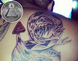 Chris Brown Snake Tattoo Illuminatti