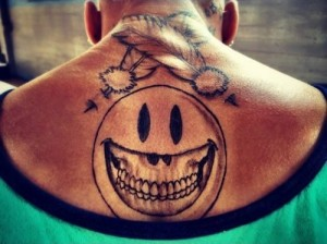 Chris Brown Back Tattoo