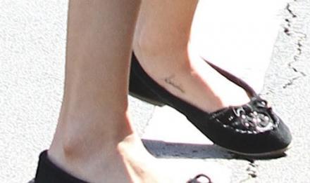 Selena Gomez Secret Foot Tattoo