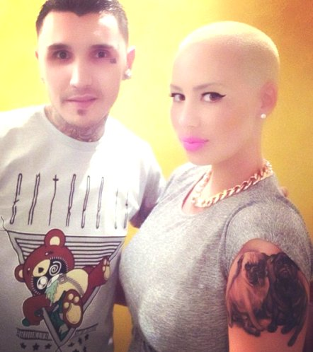 Amber Rose Debuts HUGE Arm Tattoo of Her 2 Dogs