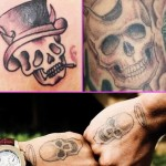 Chris Brown and Zayn Malik Skull Tattoos