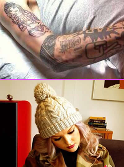 zayn malik 39 s arm tattoo of girlfriend perrie edwards