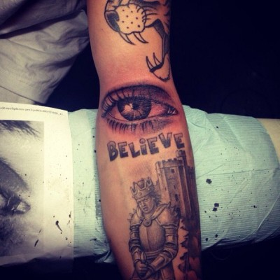 Justin Bieber Eye Tattoo
