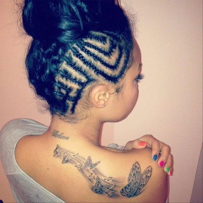 Leigh Anne butterfly tattoo