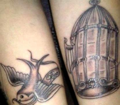 Cher Lloyd's Flying Bird & Birdcage Arm Tattoos