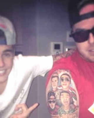 Justin Bieber's Weed Dealer Gets a Tattoo of the Biebs