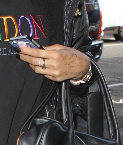 Is Rihanna Planning Yet ANOTHER Hand Tattoo??