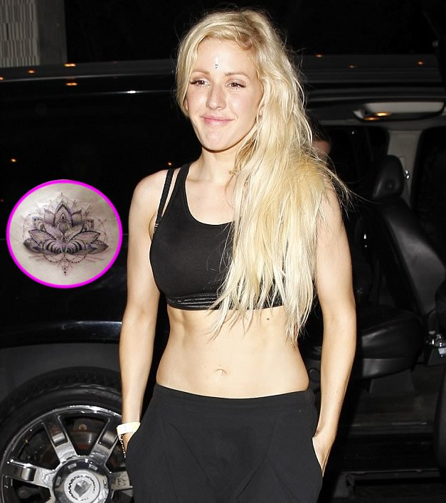 Ellie Goulding Gets Intricate Lotus Flower Tattoo on Her Ribcage