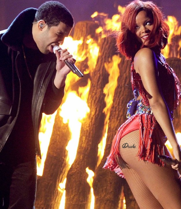 Find Out What Might Convince Rihanna to Get a Drake Tattoo…