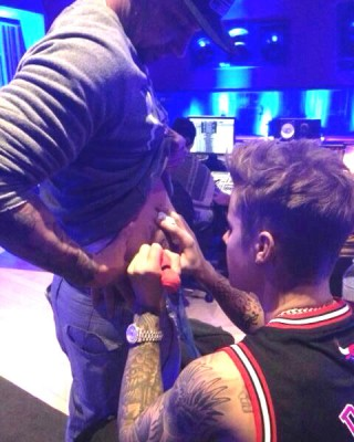 Justin Bieber Immerses Himself in All Aspects of the Tattoo Culture