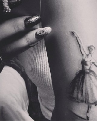 Rita Ora Reveals New Ballerina Tattoo on Her Tricep