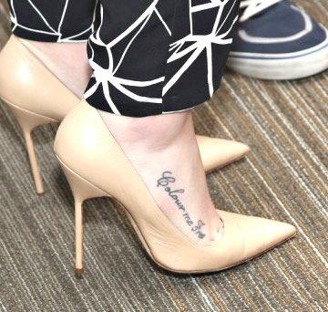 """Colour Me Free"" Tattoo on Iggy Azalea's Foot"