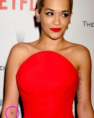 Rita Ora's Tiny Black Triangle Arm Tattoo
