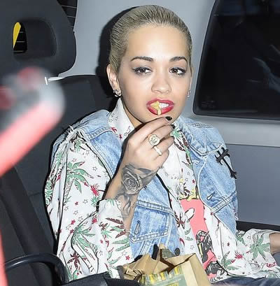 Rita Ora Covers Up Feather Hand Tattoo With Intricate Rose Ink