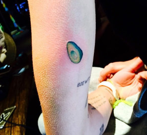 miley cyrus arm avacado tattoo