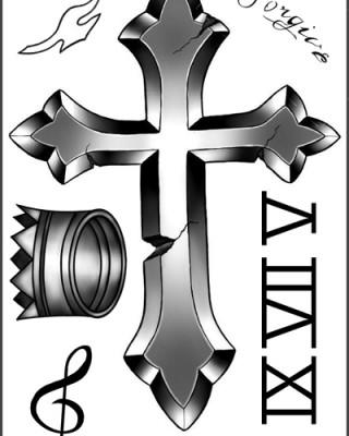 Chris Brown's Neck & Head Tattoos