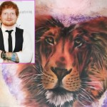 ed sheeran lion tattoo2