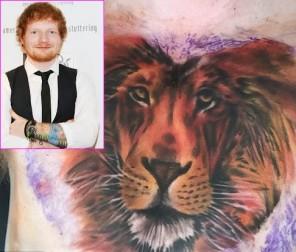 ed sheeran lion tattoo2