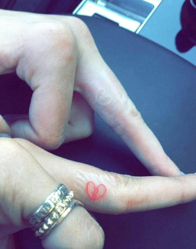 Kendall Jenner Gets Matching Broken Heart Tattoo with Hailey Baldwin
