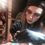 cara delevingne giving suicide squad tattoo