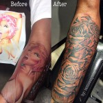 safaree samuels covers nicki minaj arm tattoo