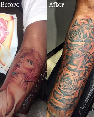 Safaree Samuels Finally Covers Up Nicki Minaj Tribute Tattoo on His Arm