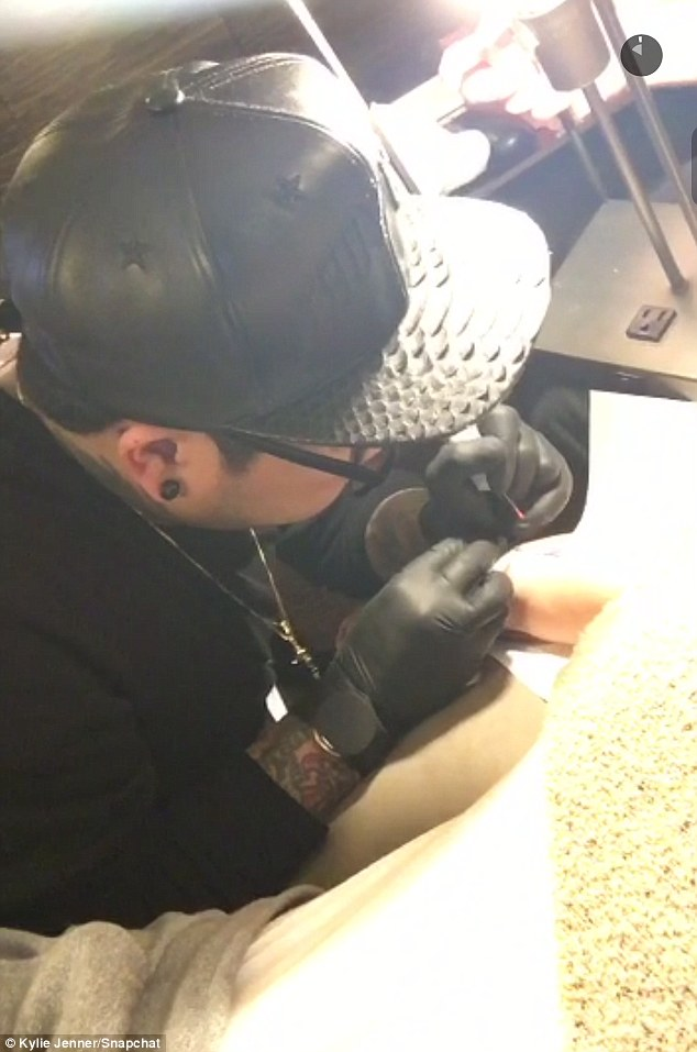 "Kylie Jenner Posts Video of Latest ""Mary Jo"" Tattoo"