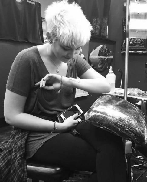 paris jackson arm tattoo