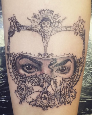 Paris Jackson Pays Tribute to Michael Jackson with Dangerous Cover Art Tattoo