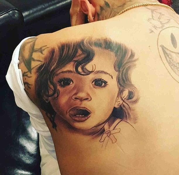 chris brown tattoos