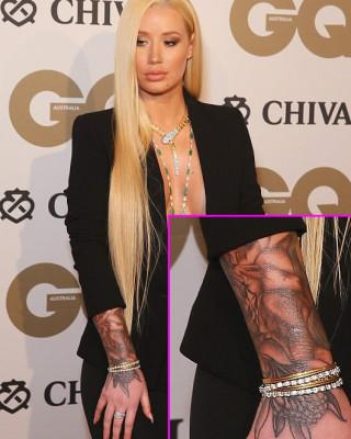 Iggy Azalea Shows Off Crazy New Tattoo Sleeve at GQ Men of the Year Award