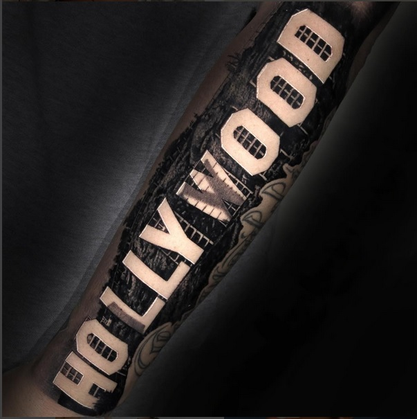 "Amber Rose Debuts Massive ""Hollywood"" Tattoo Following Split from Val Chmerkovskiy"