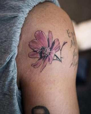 Drake Gets Flower Arm Tattoo to Commemorate More Life Playlist